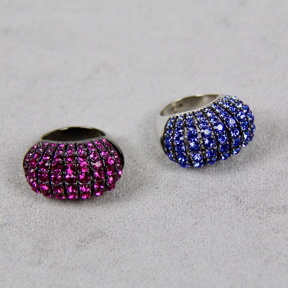 Jewelry - Blue and Raspberry Colored Statement Rings